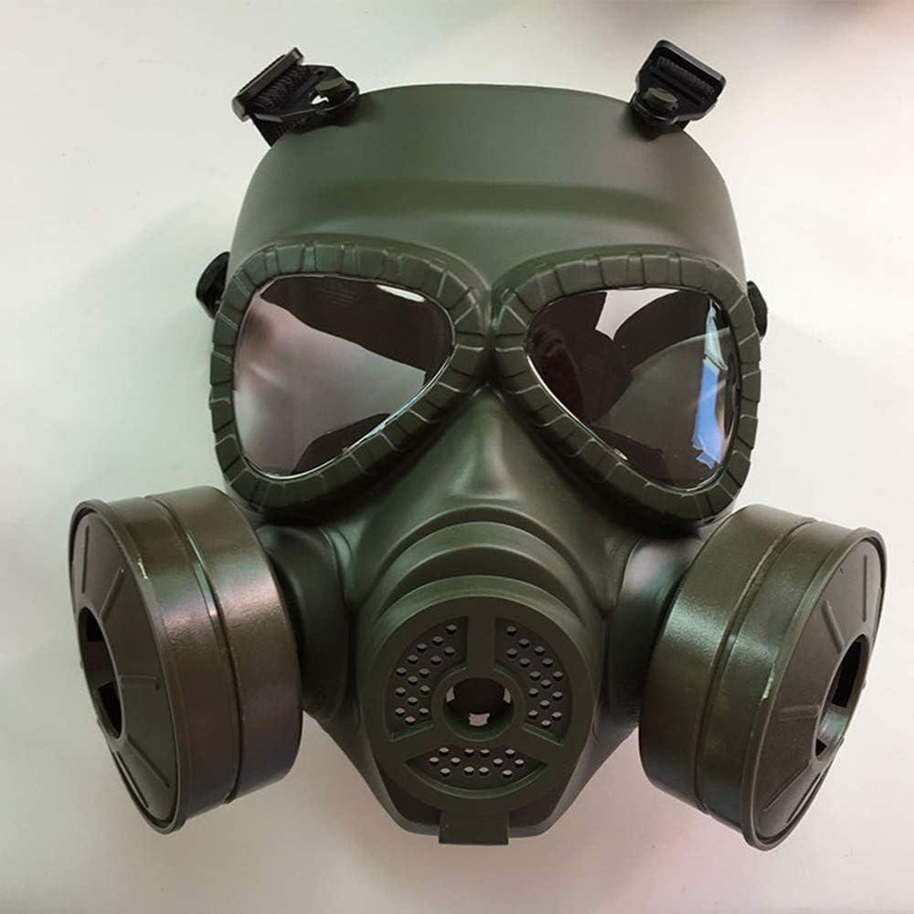 Plena junta de gas máscara respiratoria, anti-polvo Máscara de gas máscara de pintura, Mascarilla Facial para la pintura,partículas, máquina de pulido, soldadura y otras protecciones de Trabajo,Verde
