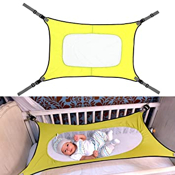 Safety Infant Baby Hammock Sleeping Swings For Newborn Nursery Beds Cribs Safe Detachable Elastic Hammock With Adjustable Net Bouncers,jumpers & Swings