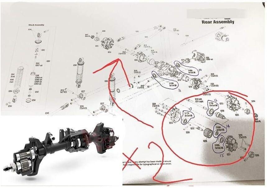 Security Accessory Rodamientos de Bolas radiales TRX-4 for ...