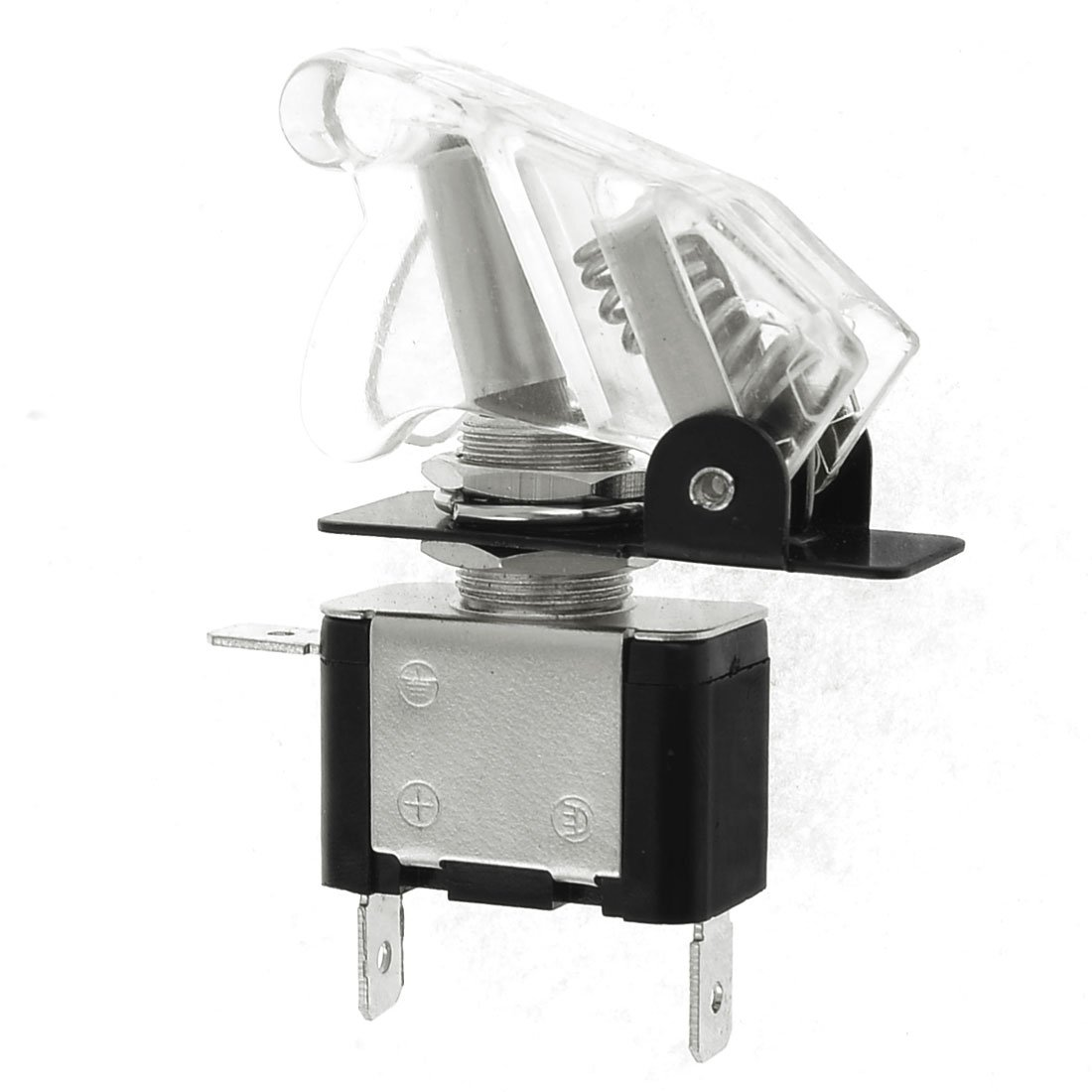 uxcell Clear LED Illuminated SPST Racing Car Toggle ON/OFF Switch Rocker 20A a13090400ux0300