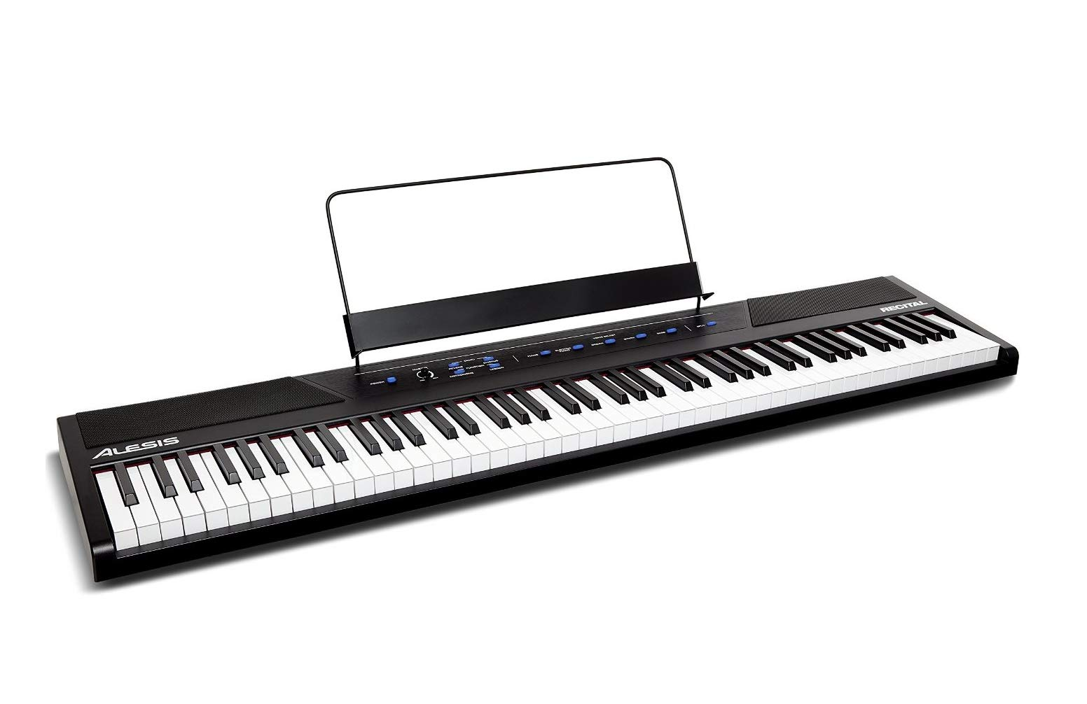 Alesis Recital | 88-Key Beginner Digital Piano / Keyboard with Full-Size Semi-Weighted Keys, Power Supply, Built-In Speakers and 5 Premium Voices (Amazon Exclusive) by Alesis
