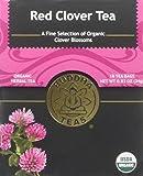 Organic Red Clover Tea - Kosher, Caffeine Free, GMO-Free - 18 Bleach Free Tea Bags