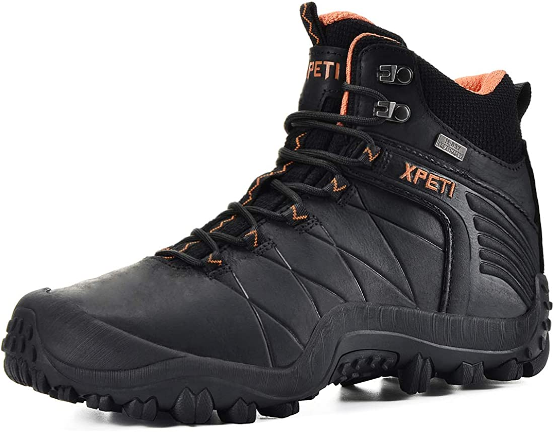 XPETI Men s Quest Mid Waterproof Leather Hiking Boot