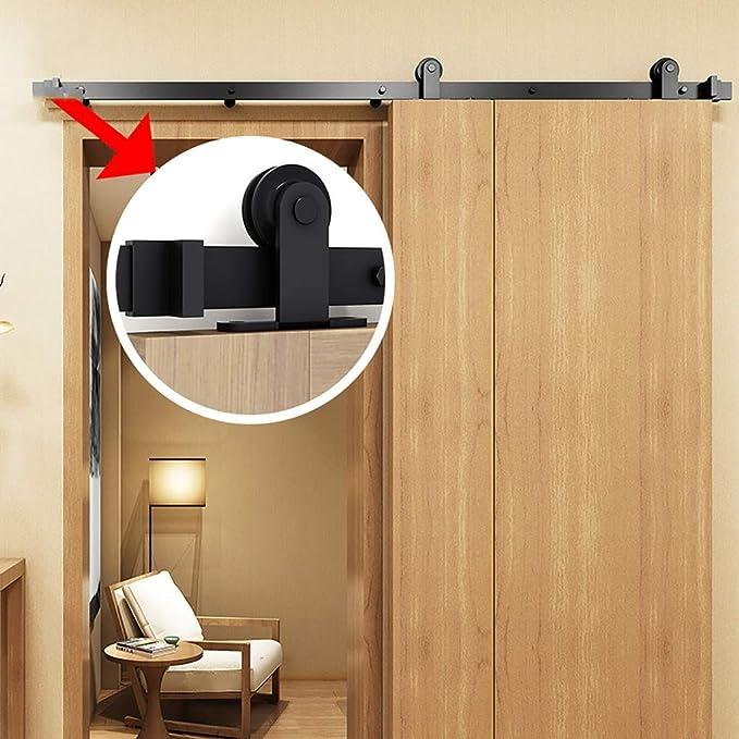 GWXFHT Herraje para Puerta Corredera Kit Puerta de Granero de 150-500 cm Kit de herrajes para Puertas corredizas de riel Colgante, Accesorios de Puerta corrediza de baño de Cocina: Amazon.es: Hogar