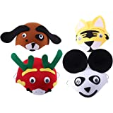 KESYOO 4 Pcs Chapéu de Festa Animal Engraçado Dos Desenhos Animados Animal Chapéu Cosplay Crianças Animal Cosplay Prop pa