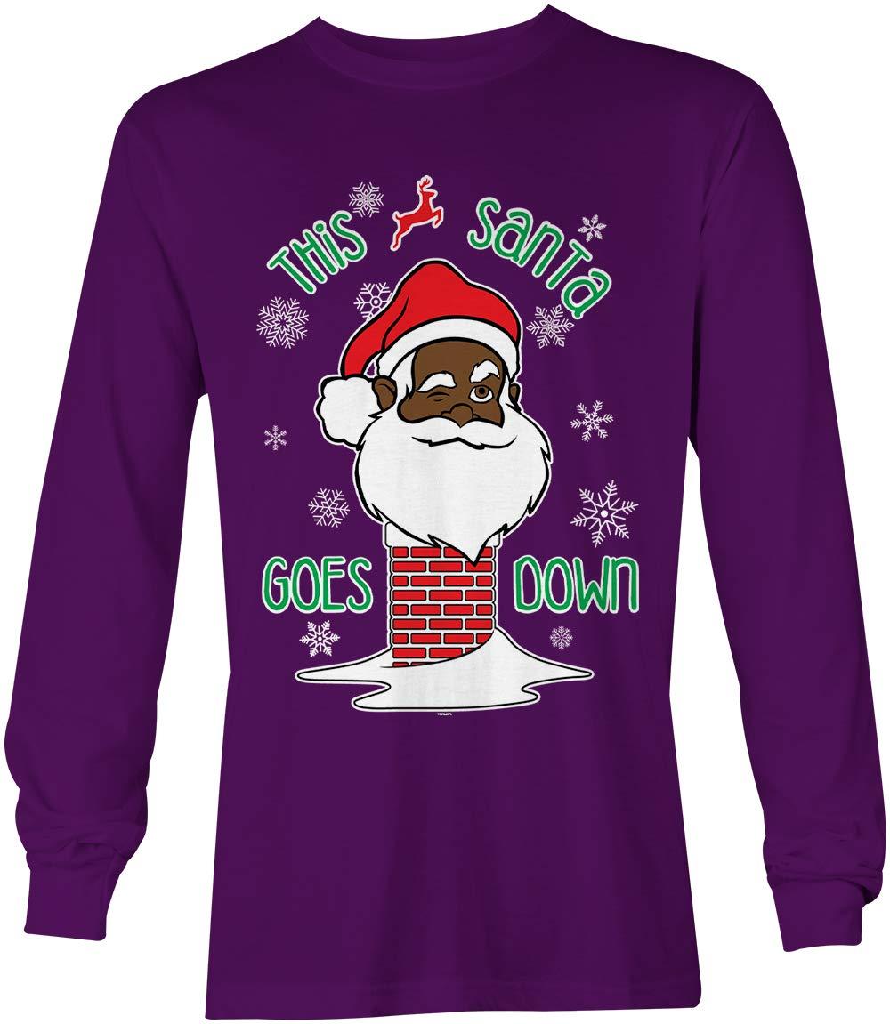 This Santa Goes Down Funny Xmas Christmas Unisex Shirt 4293