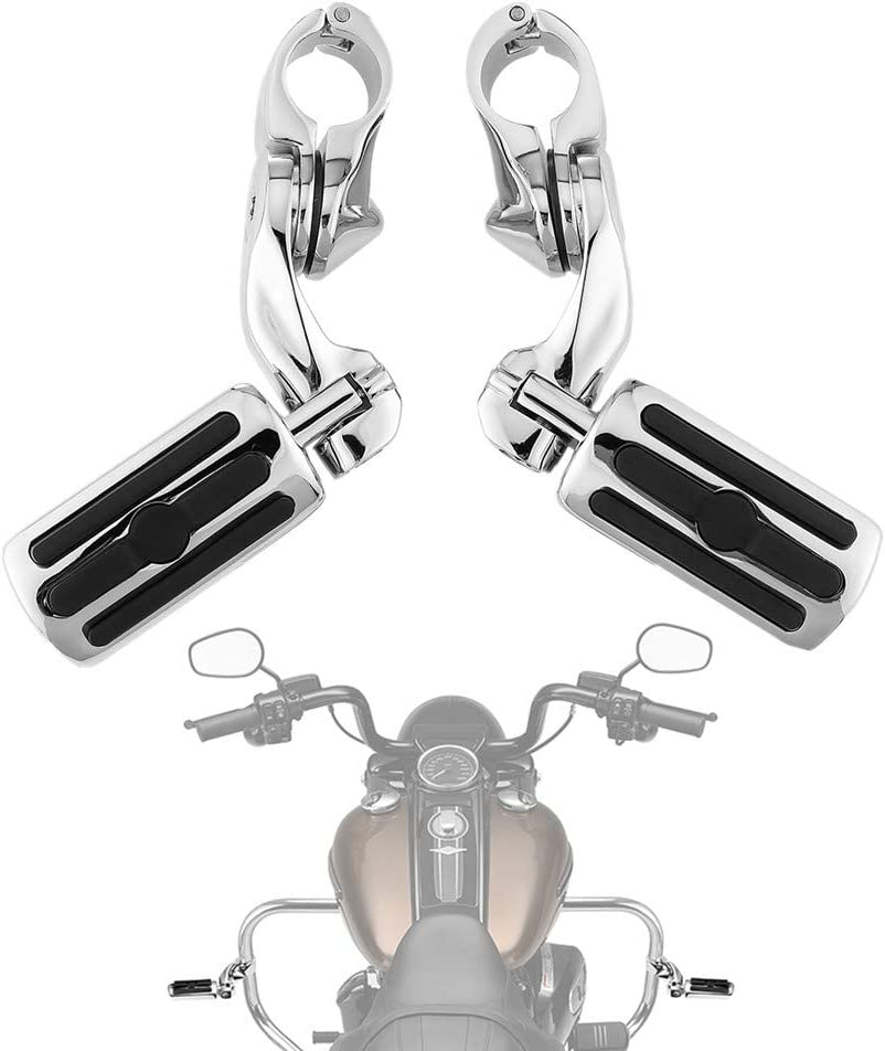 Highway Pegs Foot Rest for Street Glide Electra Glide Road King Road Glide with 1.25 Engine Guard 1 1/4 Highway Bar Aftermarket Harley Davidson Parts