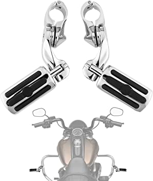 Motorcycle Highway Foot Pegs Footrest For Harley Davidson Road Street Glide FLHX
