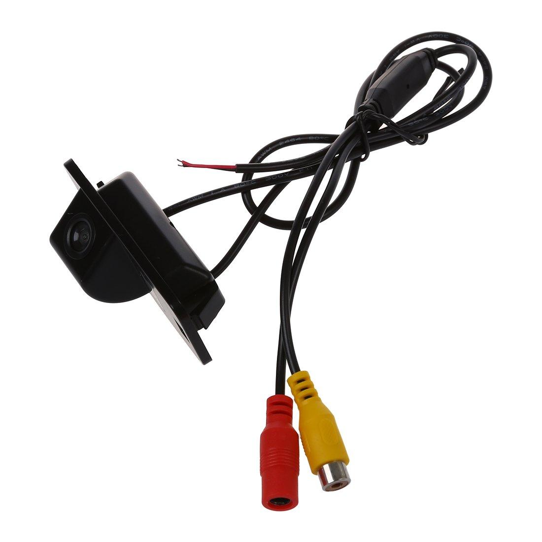 SODIAL(R) Camara de respaldo 170 grado 1/4 'negro CMOS Para BMW E39 E46 E53 1/3/5 x3 x5 x6 LEPACA1756