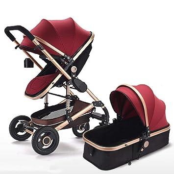 Olydmsky Carro Bebe,Bebé Cochecito Paisaje Alto reclinable Plegable Cochecito bebé Dos vías Amortiguador Silla de Paseo: Amazon.es: Hogar