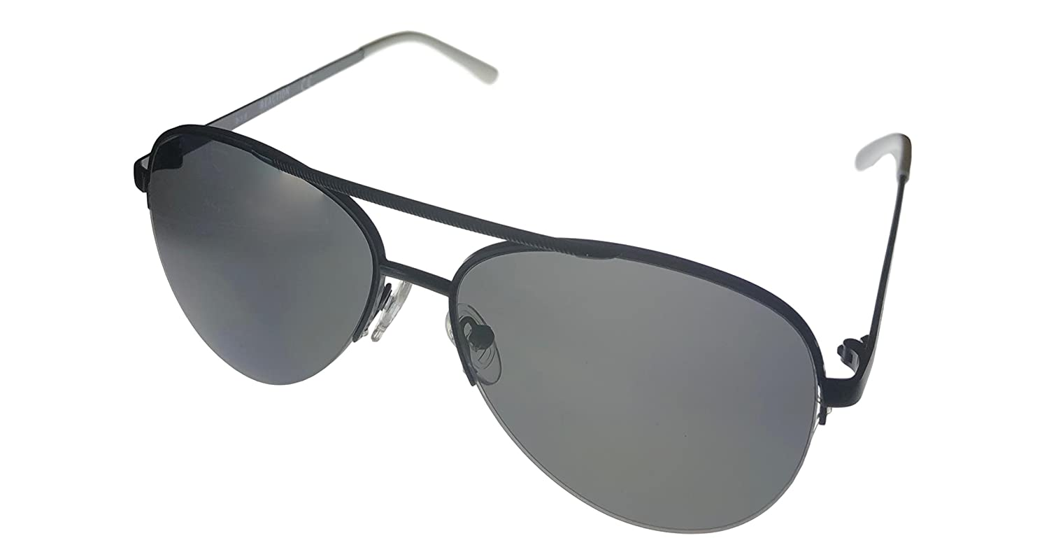9b34bb760 Amazon.com: Kenneth Cole Reaction Matt Black Mens Rimless Metal Aviator  Sunglass KC1325 2A: Clothing
