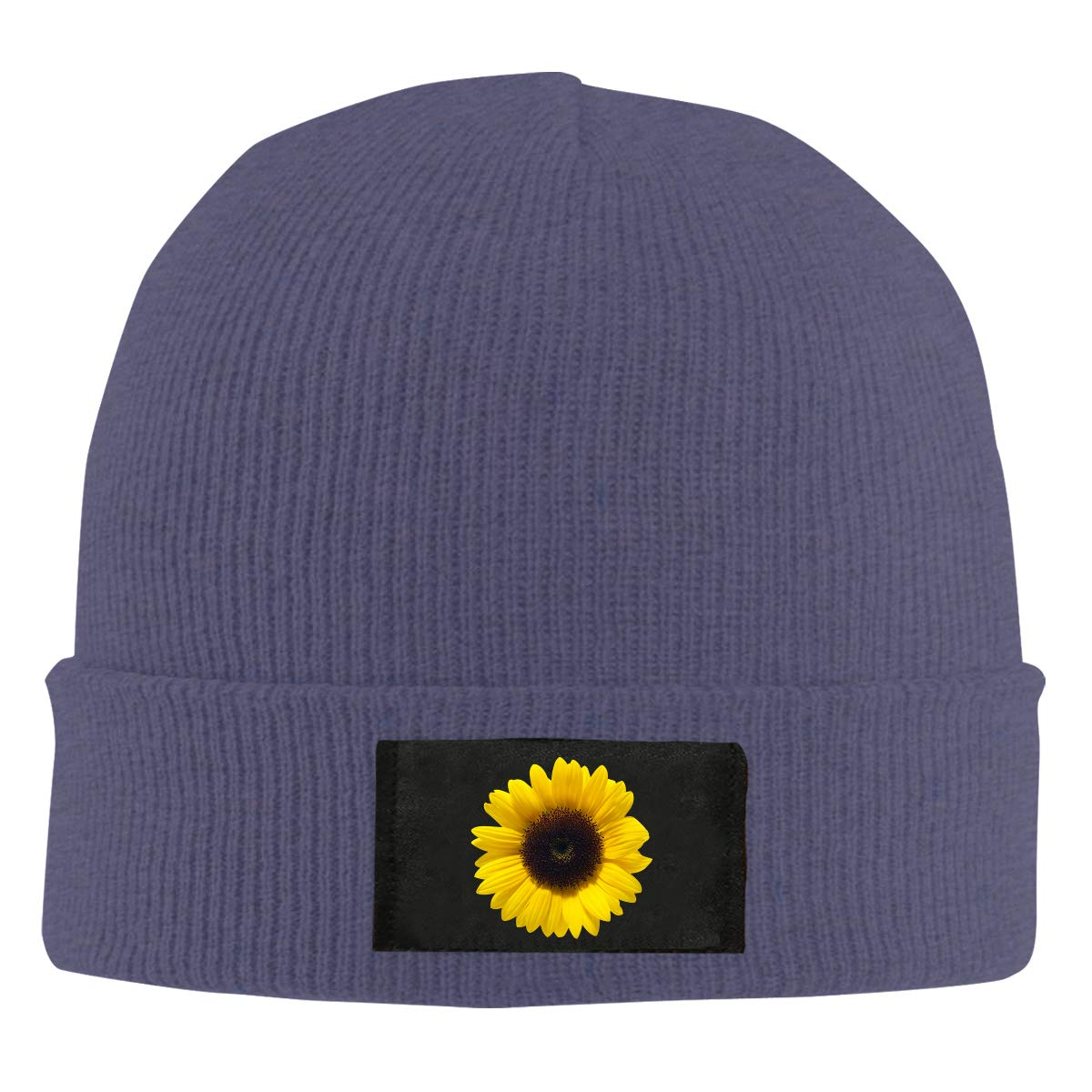 Men Women Sunflower Soleil Skull Hat Beanie Cap Winter Knit Hat Cap