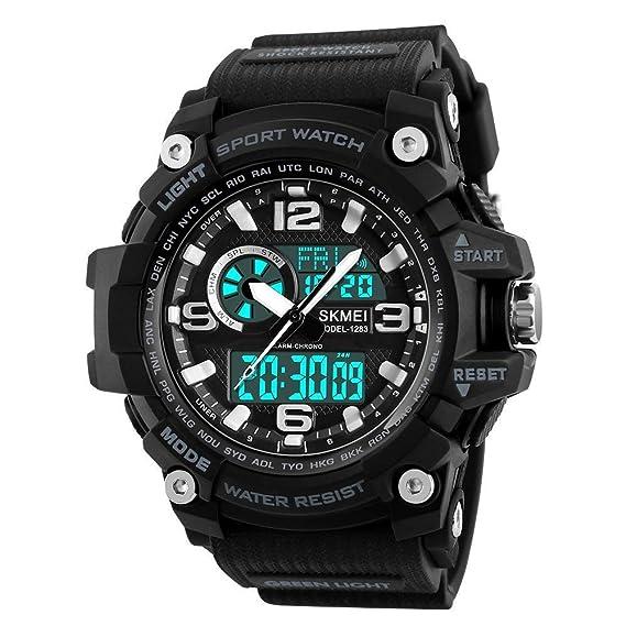 Reloj Deportivo Digital de los Hombres, Militares Impermeables Relojes LED Reloj de Pulsera de la