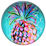 Glass Dome Paperweights 3'' DIA (Pink Pineapple)