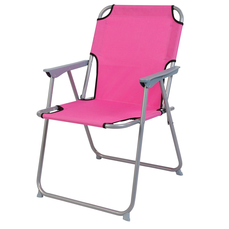 80 x 60 x 68 cm Set di mobili da Campeggio in Alluminio Mojawo  3 Pezzi 1 Tavolo da Campeggio con Maniglia e 2 sedie da Campeggio Rosa