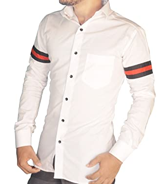 ef8f3942c4fc5 S.N. Casual Shirts for Men by Mens Cotton Shirts | White Colour Shirts|  Trendy Look