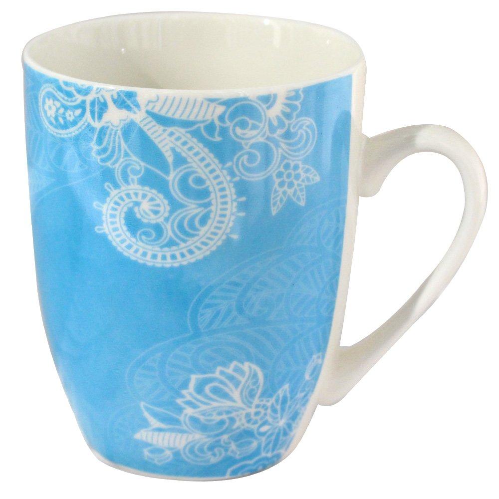 Babayaga Bone China Custom Glazed Ceramic Christams Coffee Mug Sets 13 Ounce Porcelain Tea Cups Assorted of 4