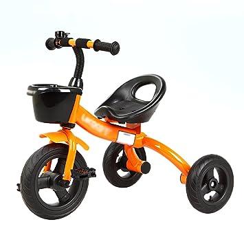 Triciclos- Bicicleta de 3 Ruedas niño Bicicleta Bebé de Juguete Carrito para niños de 2 a 6 años de Edad Joven (Color : Naranja): Amazon.es: Hogar