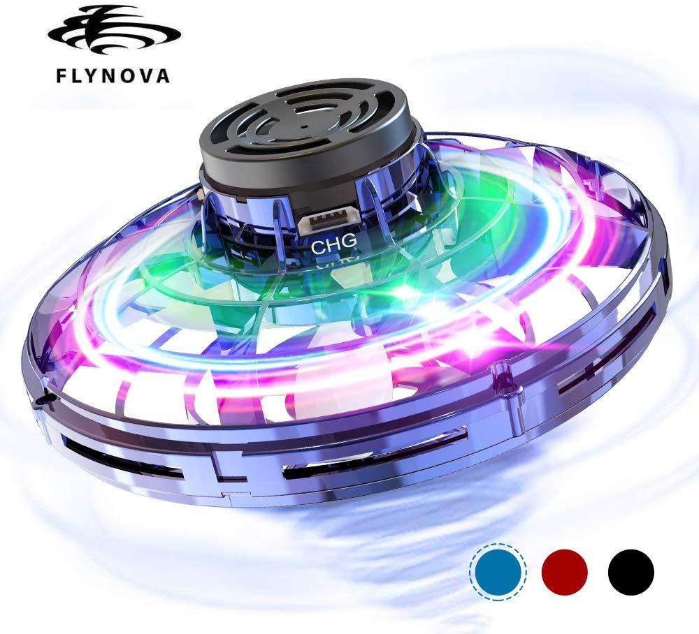 Mini Drone para Adultos y Ni/ños UFO Juguetes de Bola Voladora USB Recargable Helic/óptero con Luces LED Intermitentes Regalo de Cumplea/ños//Navidad VICTOREM FlyNova Flying Spinner
