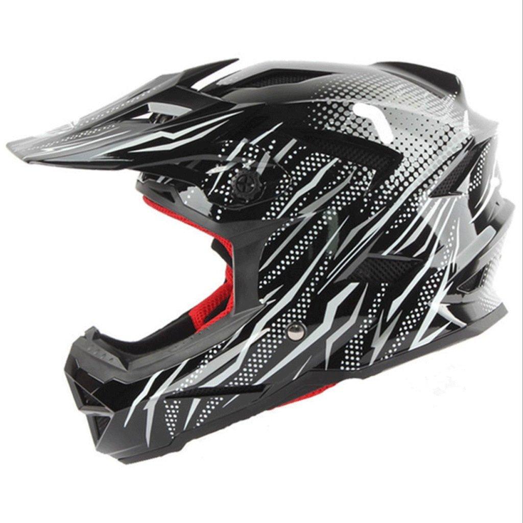 DGF ヘルメット超軽量ダウンヒルオフヒルヘルメットヘルメットオートバイスポーツオフロードフルカバー男性と女性ダブルDバックルデザイン18穴の換気 (色 : Black, サイズ さいず : L l) B07FN165C6 L l Black Black L l