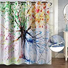 Hookless Shower Curtain, ZSZT Built-in Eyelets Design for Flexible Installation, Waterproof Mildew-Resistant Polyester Fabric ( 180 X 180cm 71 X 71 inch )