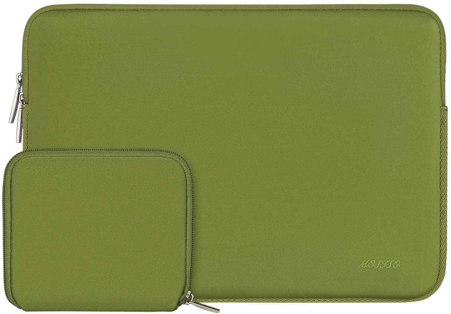 MOSISO Laptop Sleeve Compatible with 13-13.3 inch MacBook Pro, MacBook Air, Notebook Computer, Water Repellent Neoprene Bag with Small Case, Chartreuse