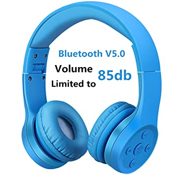 Auriculares Bluetooth para niños, Hisonic Auriculares Plegable para niños con Volumen Limitado Compatible con iPhone,iPad Mini, iPad,PC,MP3 y más ...