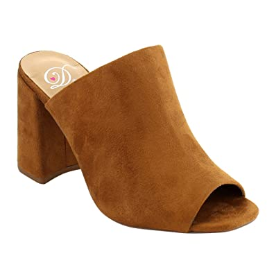 8edffe40e6 Delicious Women s Sandals Heel Block MVE Shoes
