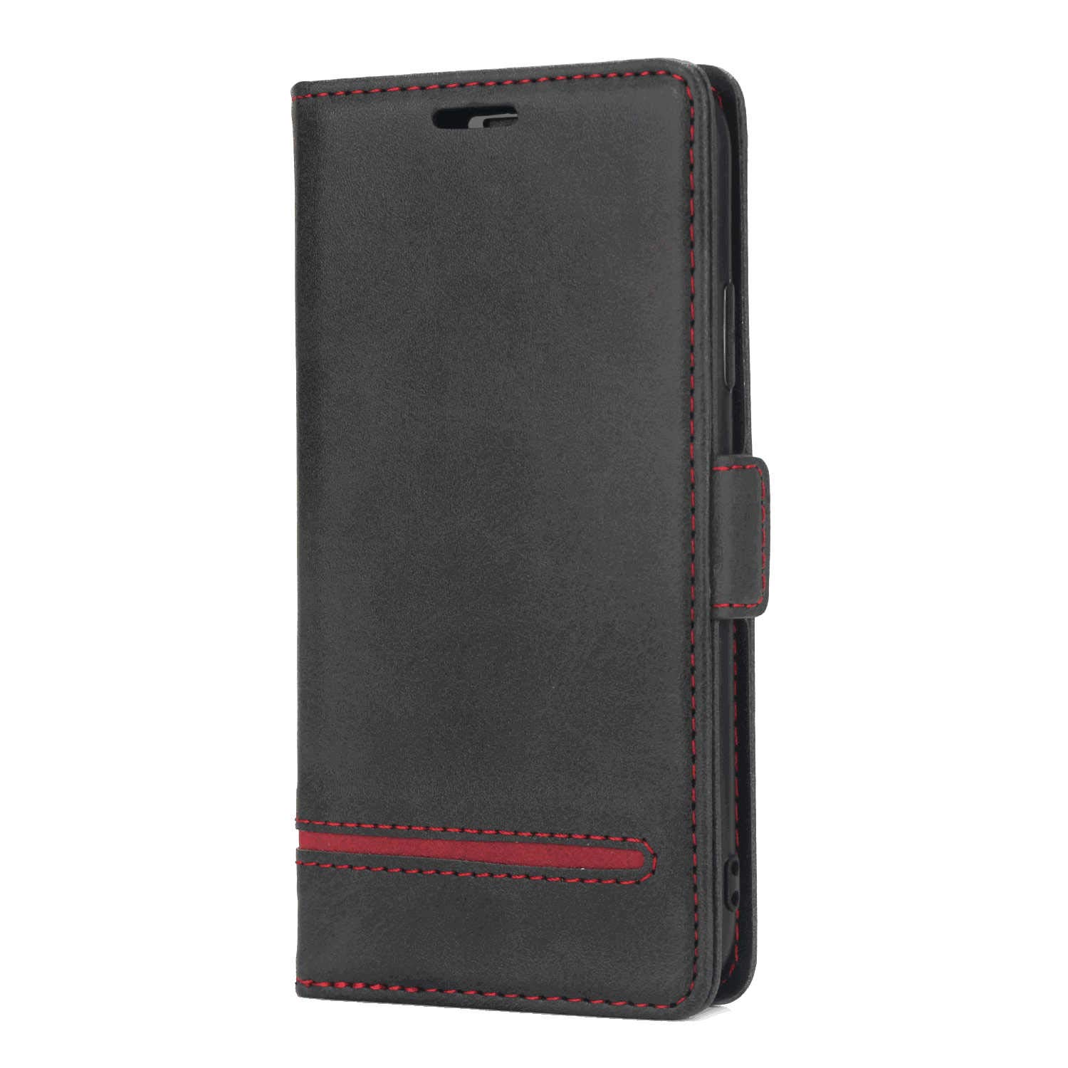 Cover for Samsung Galaxy Note10 Leather Kickstand Cell Phone Cover Luxury Business Card Holders with Free Waterproof-Bag Business Samsung Galaxy Note10 Flip Case