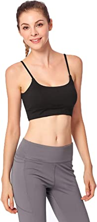 Womens Sports Bra Padded Active Wear Running Gym Fitness Yoga Ladies Cross Crop