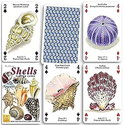 Shells set of 52 playing cards + jokers (hpc): Toys & Games
