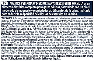 Advance Veterinary Diets Urinary Stress - Pienso para Gatos,1.25 ...