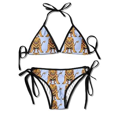 dbded05400 Hideous Lion Women's Swimwear Bikini Sets Bikini Swimsuits: Amazon ...