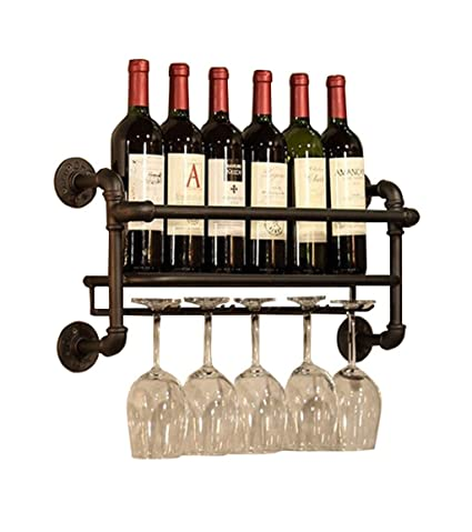 Amazoncom Wine Racks Wall Holder Metal Hanging Wine Glass Holder