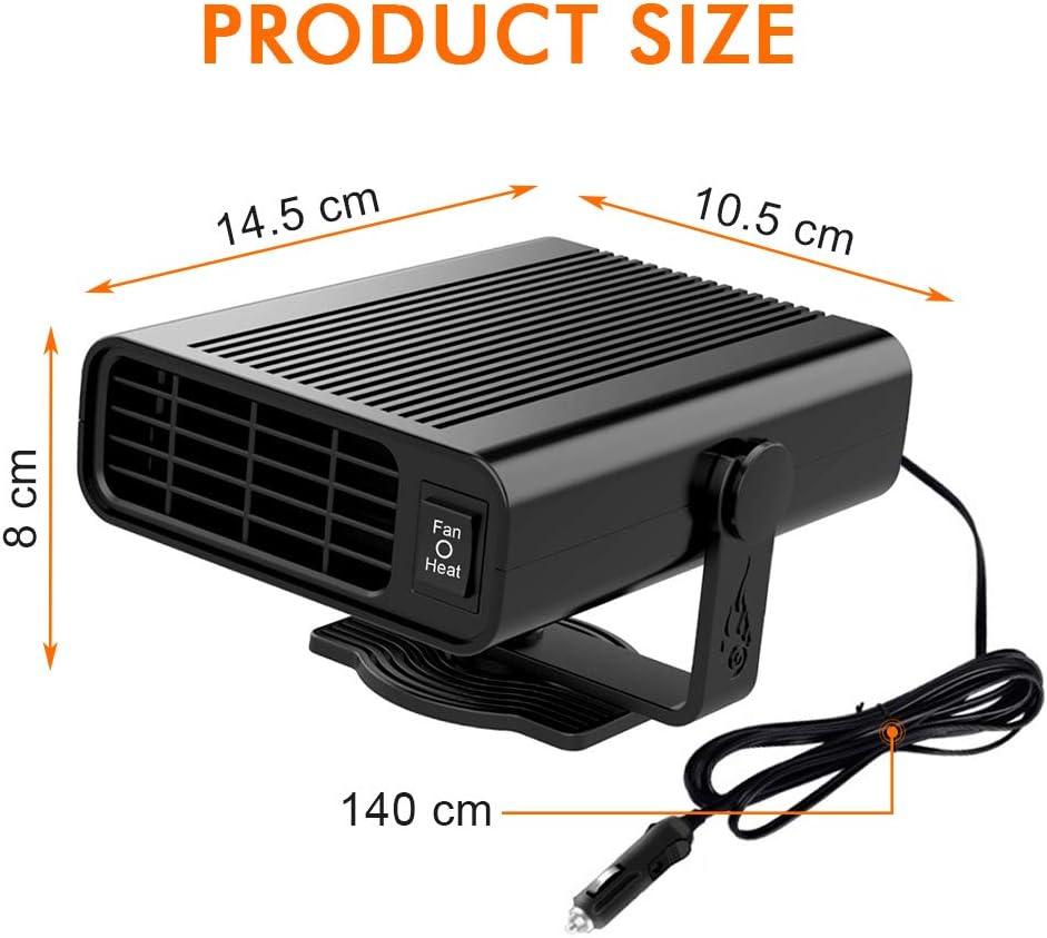 12V Mini Auto Termoventilatore Sbrinatore Regolabile Asciugacapelli Riscaldamento e Ventola 2 in 1 Portatile Riscaldamento Automatico Sbrinamento del Parabrezza SANBLOGAN Riscaldamento per Auto