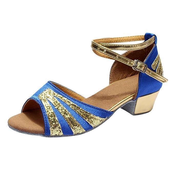 fa627c8e3b9 Zapatillas de Baile Interior para Mujer Zapatos Latinos de la Salsa Zapatos  de Baile Latino de