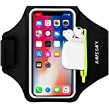 Running Armband with Airpods Bag Cell Phone Armband for iPhone 11/11 Pro/XR/XS/8/7, Water Resistant Sports Phone Holder…
