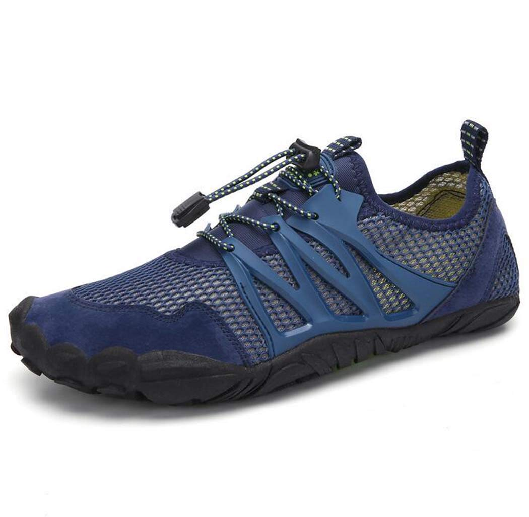 blueee 40 Sports shoes,Men Barefoot Quick Dry Aqua Water shoes Beach Pool Swim shoes with Men,blueee,40