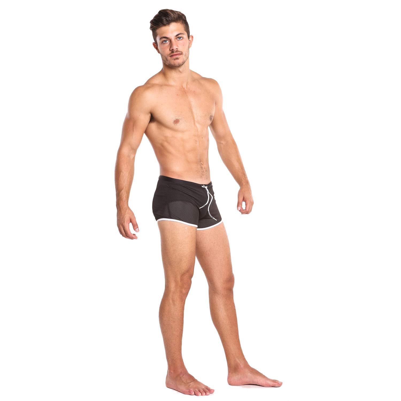 b34cdc5b15 Ltd TAD-YK107-TY02-M Briefs Taddlee Swimwear Men Swimsuits Swim Boxer  Shorts Trunks Solid Black Mesh Bikini ...