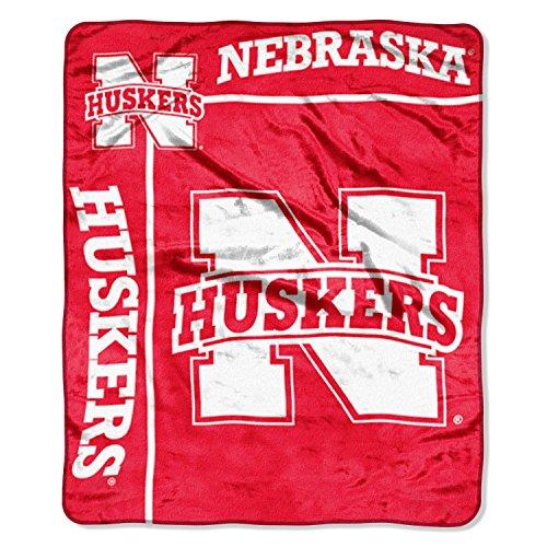 "NCAA Nebraska Cornhuskers 50-Inch-by-60-Inch Raschel Plush Throw ""School Spirit"" Design"