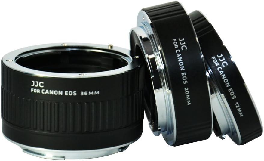 Auto Macro Extension Tube JJC 12 20 /& 36mm Focus Macro Extension Tubes for Canon EF-S EF mount T7 T6 T5 T3 XS 7D 6D 5D T7i T6i T5i T4i T3i T2i T1i SL2 SL1 80D 70D 60D 50D 40D Adapter Ring Tube