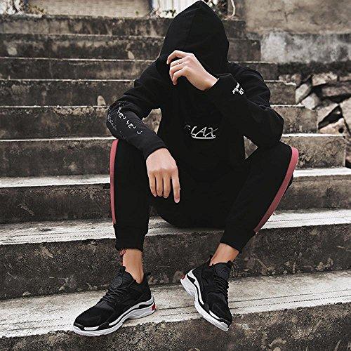 Turnschuhe Herrenschuhe Version Sneaker Freizeit xiaolin Laufschuhe Schwarz Koreanische 5azxPSq