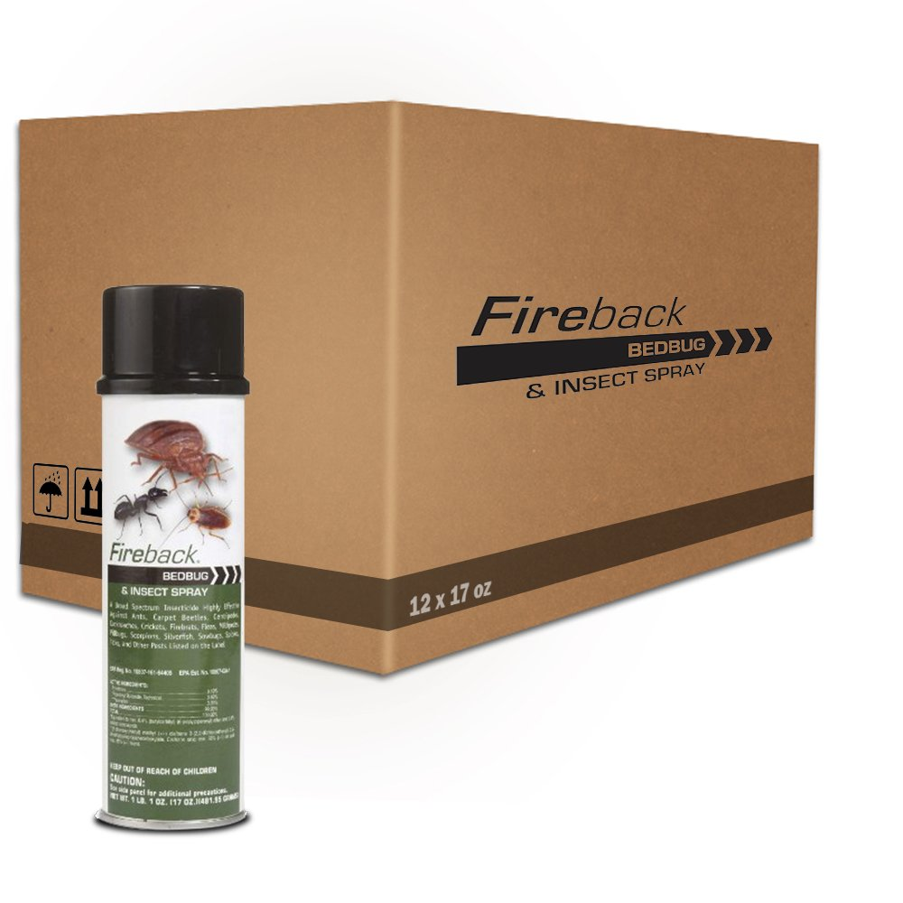 Fireback Bedbug and Insect Spray 1 Case (12) * 17 Oz Cans by BACKFIRE