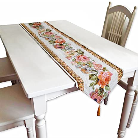 Multi Style Available Dining Table Runner Vanity Coffee Table Runner End Table  Runner With Fringe