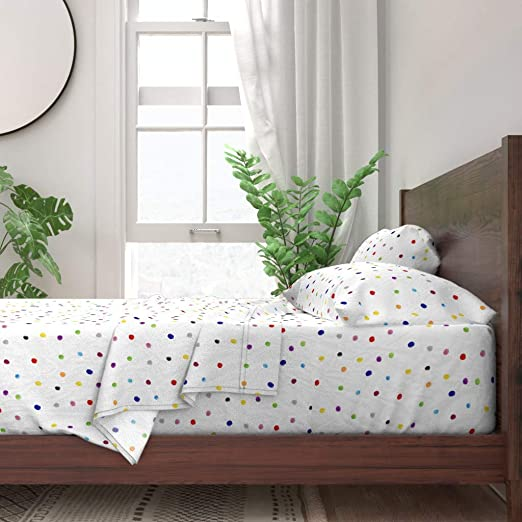 SINGLE BED FLANNELETTE SHEET SET LIME GREEN SPOTTED WHITE 100/% COTTON LUXURY