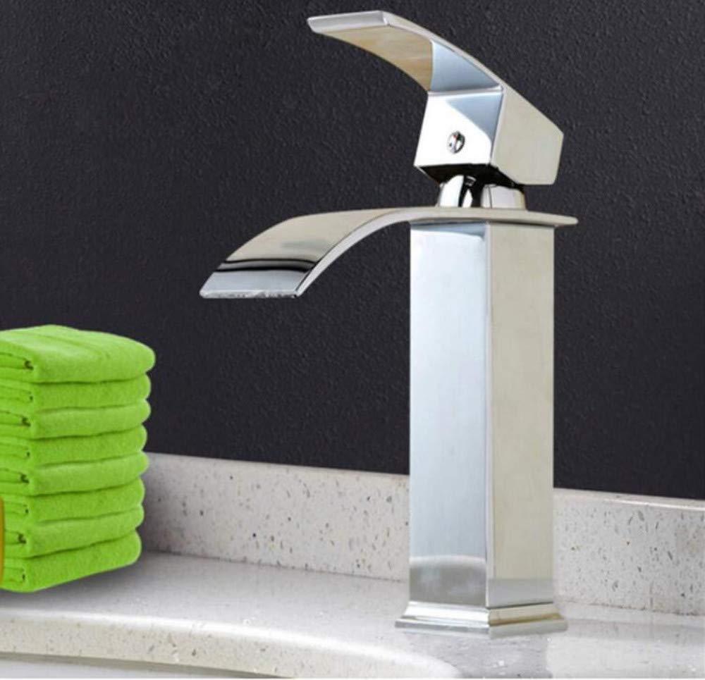 Messing Wandhahn Chrom Messinghahn Wasserhahn Square Vanity Sink Mischbatterie