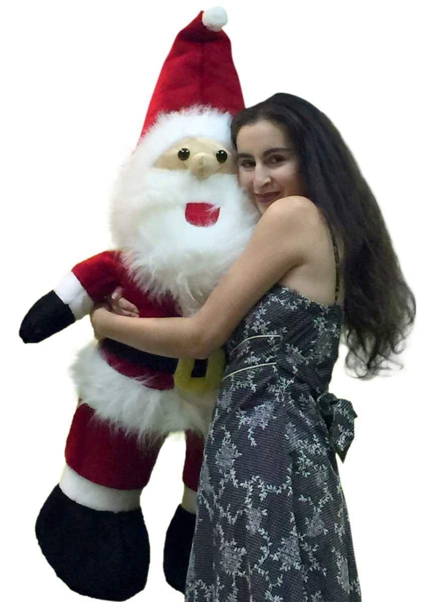amazoncom big plush american made giant stuffed santa claus 4 foot soft oversized christmas plush 48 inches new toys games - Stuffed Santa Claus