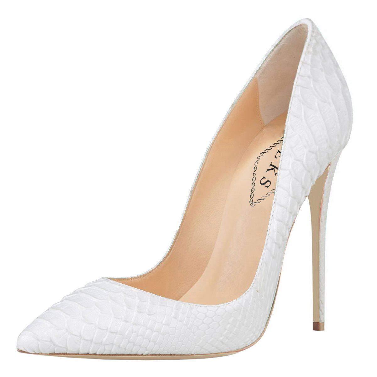 EKS - Zapatos de Tacón Mujer 45 EU|Wei-Snakeskin