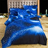 Rumas 3 Pcs Home Textile Christmas Bedding Set Duvet Cover Bed Pillowcases (E)