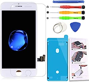 Compatible with iPhone 7 White Screen Replacement 4.7 Inch, LCD Screen Display Touch Digitizer Assembly for iPhone 7 Compatible with Model A1660, A1778, A1779